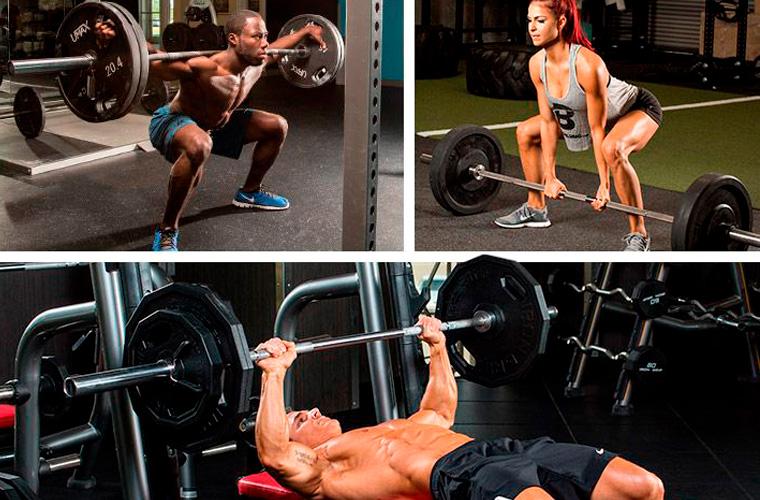 Упражнения при наборе массы
